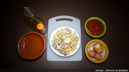 Huevos al plato con ropa vieja - ingredientes
