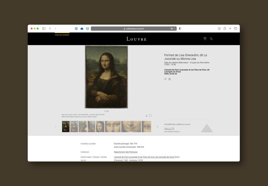 El Louvre pone a disposición de todos y gratis su catálogo completo: 482.000 obras de arte online que ya se pueden visitar