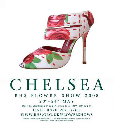 Manolo Blahnik rinde homenaje al Chelsea Flower Show