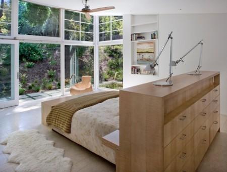 Cabecero Cama Dormitorio Moderno Armario Madera