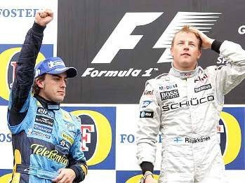 Así opinaba Alonso de Raikkonen y Massa
