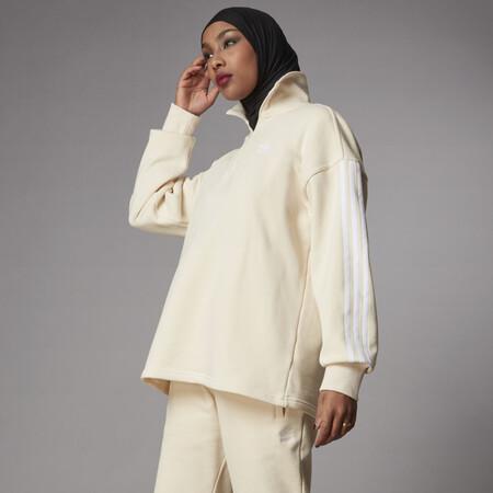 Sudadera Adicolor Classics Half Zip Blanco H35638 Hm1