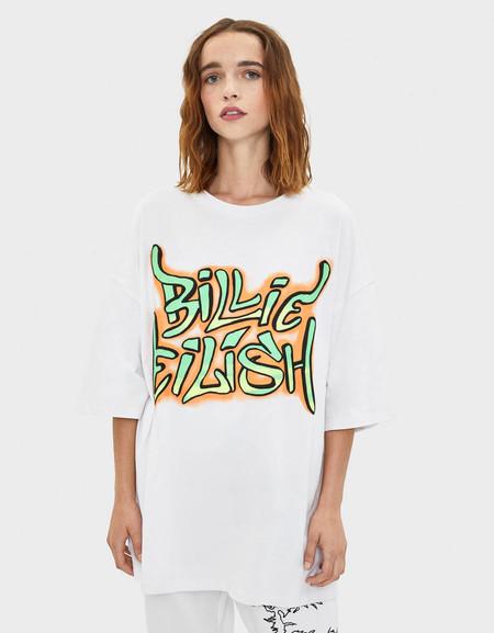 Camiseta con graffiti Billie Eilish x Bershka