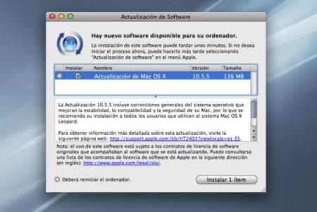 La actualización de Mac OS X Leopard 10.5.5 ¡ya está disponible!