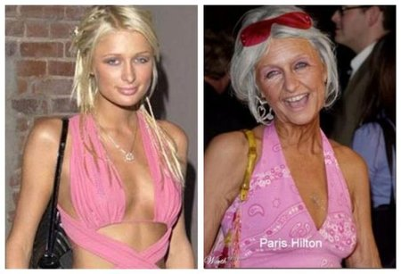 Paris Hilton de anciana