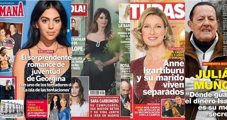 Georgina Rodríguez enamorada de un tentador, el divorcio de Anne Igartiburu y Julián Muñoz como inspector de Hacienda: Estas son las portadas de la semana del 3 de febrero