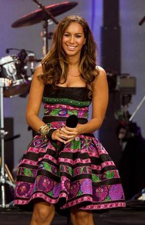 Leona Lewis en el cumpleaños de Nelson Mandela