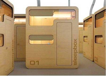 Sleepbox, cabinas hotel dentro del aeropuerto