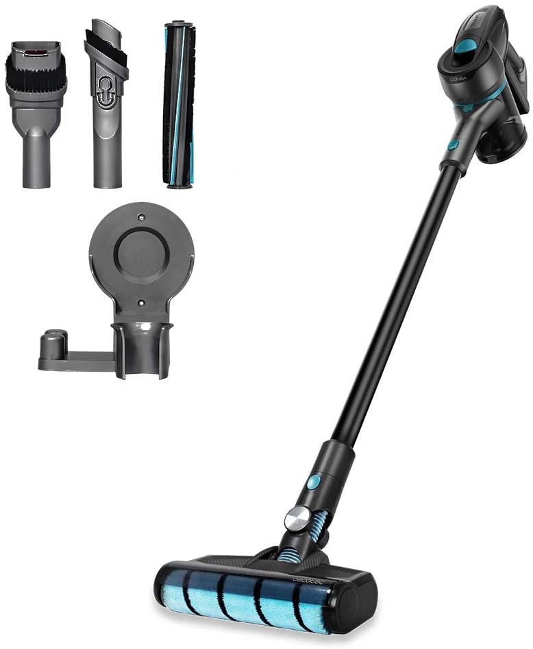 Cecotec Aspirador Escoba Sin Cable Conga Rockstar 500 X-Treme, Sin Bolsa, 3 en 1: Vertical, Escoba y de Mano, Motor Digital Brushless, 430W Potencia, 24KPA, Hasta 65 min Autonomía, Máxima eficiencia