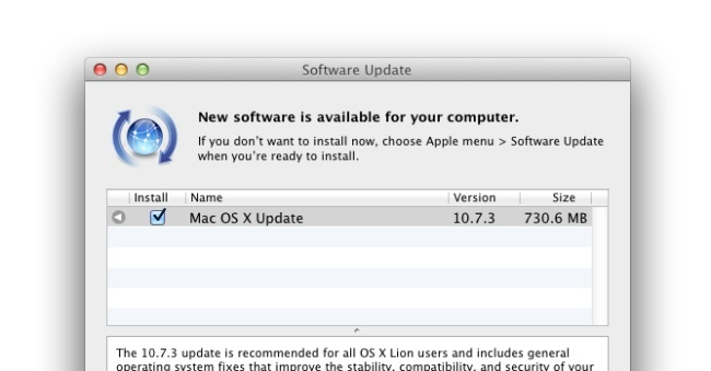 apple os x lion 10.7.3 actualización