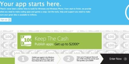 Microsoft ofrece cien dólares a los desarrolladores que creen aplicaciones para sus plataformas