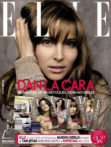 Elsa Pataky, Patricia Conde, Paz Vega y Sara Carbonero naturales en la portada de Elle España