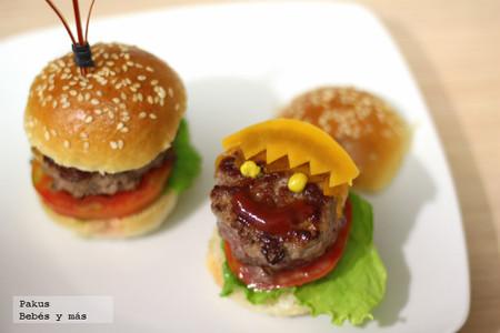 Recetas de verano para hacer con los peques: mini  hamburguesas infantiles