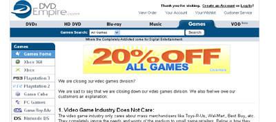 ¿Montar una tienda de videojuegos? ¡¡ No, gracias !!