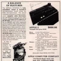 Imagen de la semana: Primer anuncio de Apple