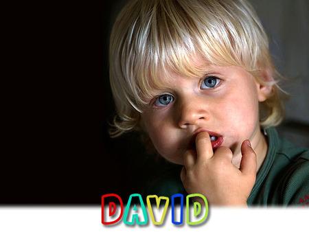 Los nombres más utilizados en España: David