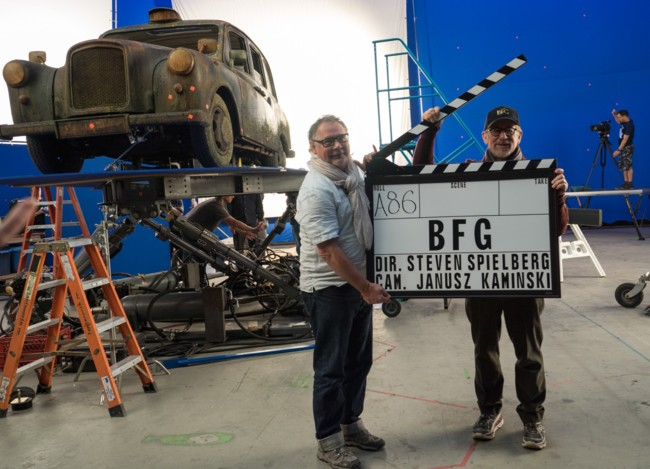 Spielberg con Janusz Kaminski en el rodaje