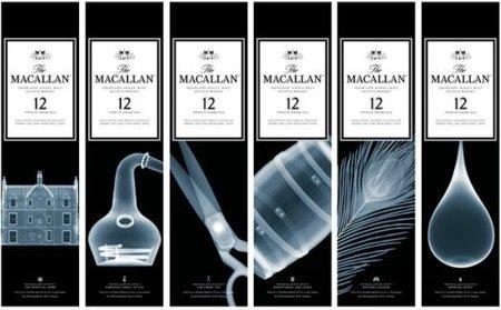 Fotografia con Rayos X para botellas de whisky