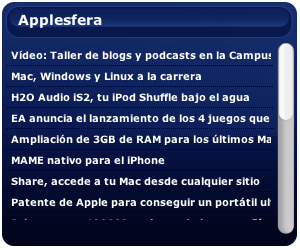 applesfera widget