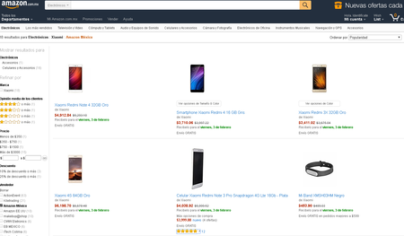 Dispositivos Xiaomi Amazon Mexico