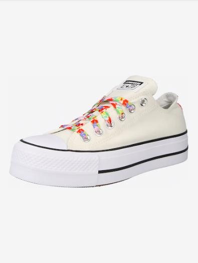 Zapatillas Bajas Con Cordones De Colores