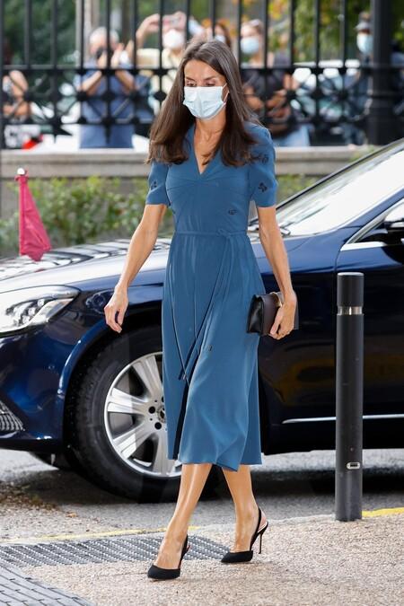 Doña letizia vestido azul