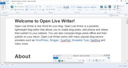 Ya está disponible Open Live Writer en la Windows Store
