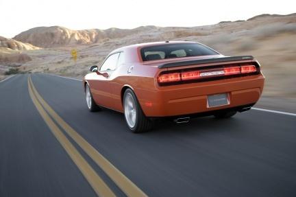 La trasera del Dodge Challenger SRT8