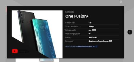 Motorola One Fusion Plus Especificaciones Filtracion