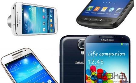 Foto de familia Galaxy S4: la nueva gama al completo