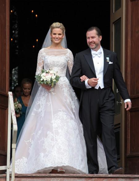la novia vicky andren y su vestido de boda, la sensación de la