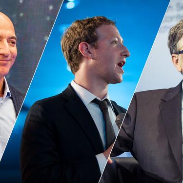 """Bezos, Gates, Zuckerberg. Detrás de cada millonario """"hecho a sí mismo"""" hay un padre con dinero"""
