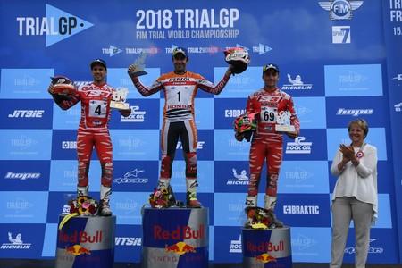 Podio Trialgp Francia 2018