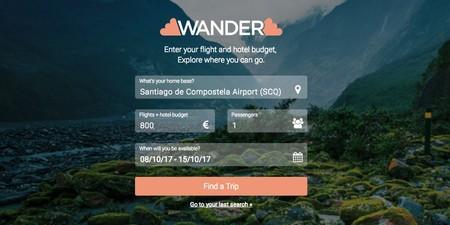 Wander buscador vuelos
