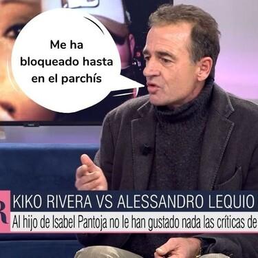 """Alessandro Lequio responde llamando """"paleto"""" a Kiko Rivera: """"Está quedando en evidencia"""""""