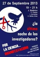 Manifestación #PorLaCiencia27S