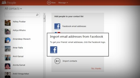 La integración con Facebook ya no está disponible en los servicios de Microsoft