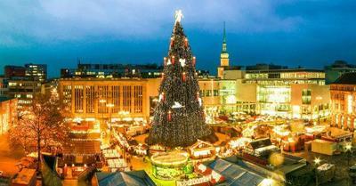 El imponente árbol de Navidad de Dortmund. ¿El más grande del mundo?
