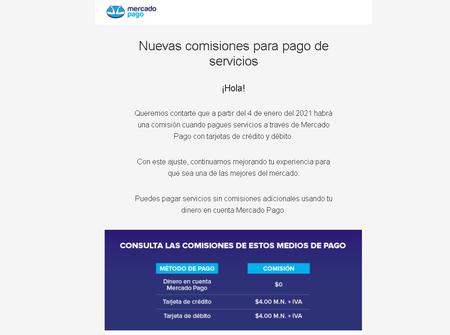 Comisiones Pago Servicios Mercado Pago Libre Mexico