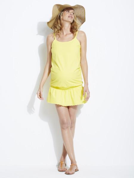 Vestido Premama Amarillo