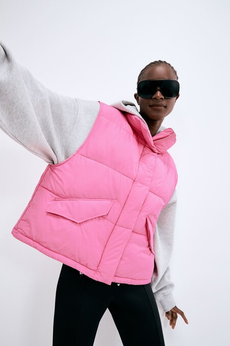 Puffer Vest With High Neck