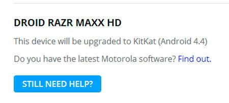 Motorola actualización Android 4.4
