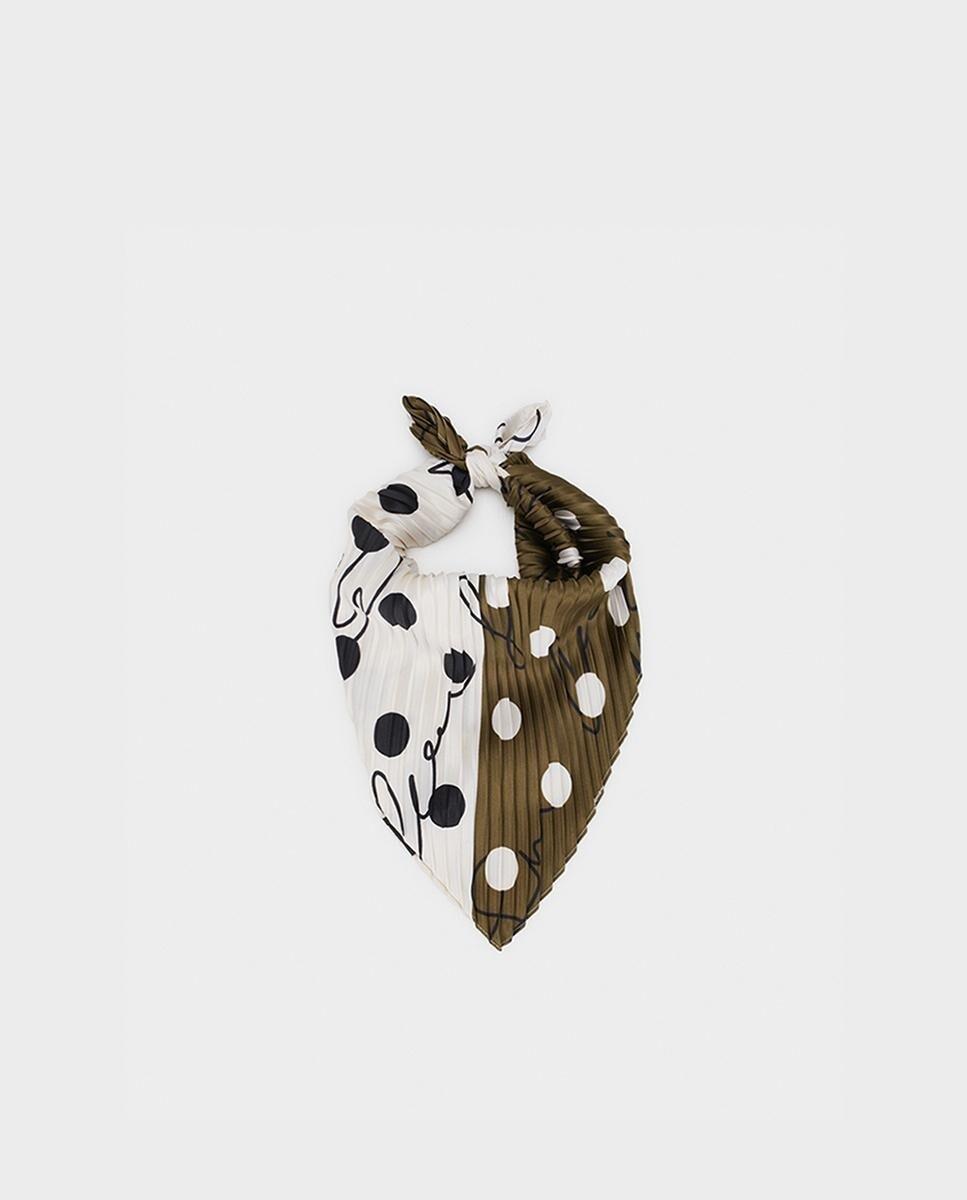 Pañuelo de mujer Parfois kaki con fleco corto