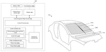 Tesla patente de limpiaparabrisas
