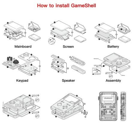 Esquemas de montaje de Gameshell