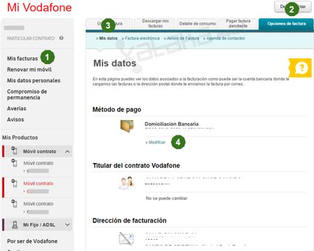 Cambiar Cuenta Bancaria Vodafone Desde Navegador