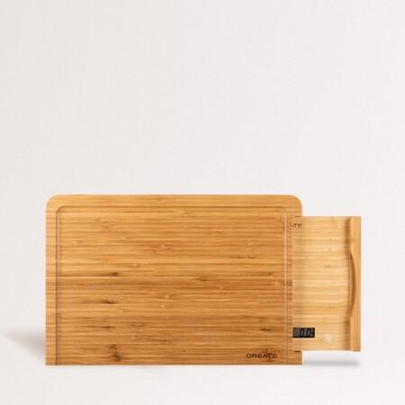 Board Scale Bamboo Tabla Corte De Cocina Con Bascula Integrada