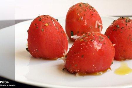 Receta de tomates asados rellenos de arroz