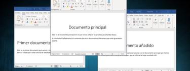 Cómo combinar o fusionar varios documentos de Word