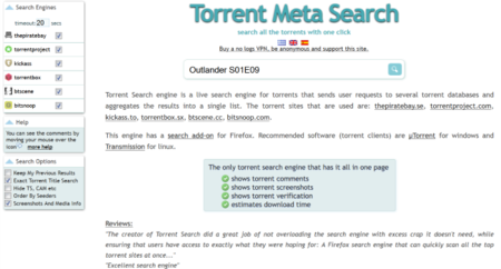 Torrent Meta Search